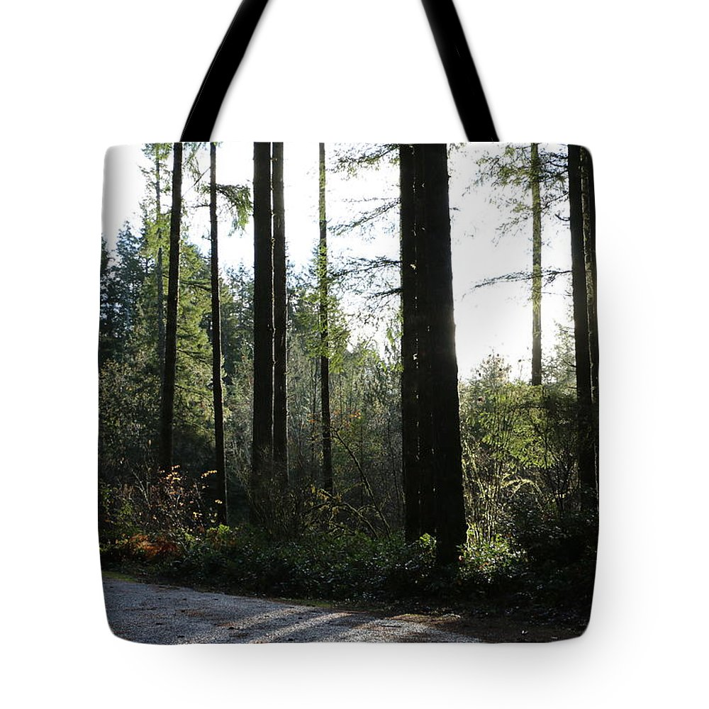Trees Tote Bag featuring the photograph Shadow Dance by Dani Keating