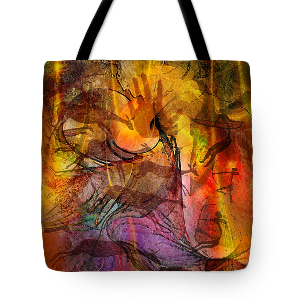 Shadow Hunters Tote Bag featuring the digital art Shadow Hunters by John Beck