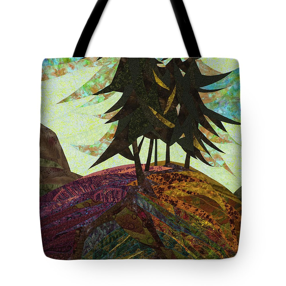 Tree Tote Bag featuring the tapestry - textile Shadow of the Evening by Linda Beach