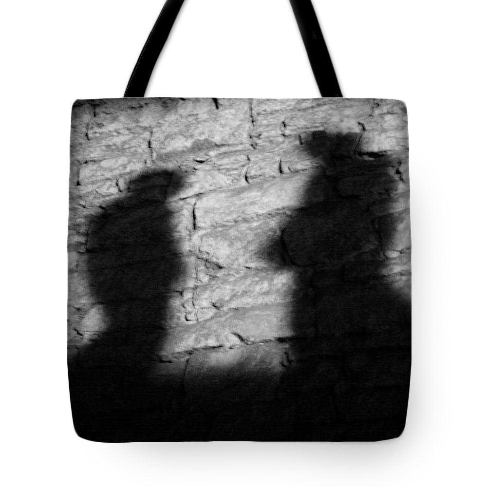 Wall Tote Bag featuring the photograph Shadow On The Wall by Christine Till