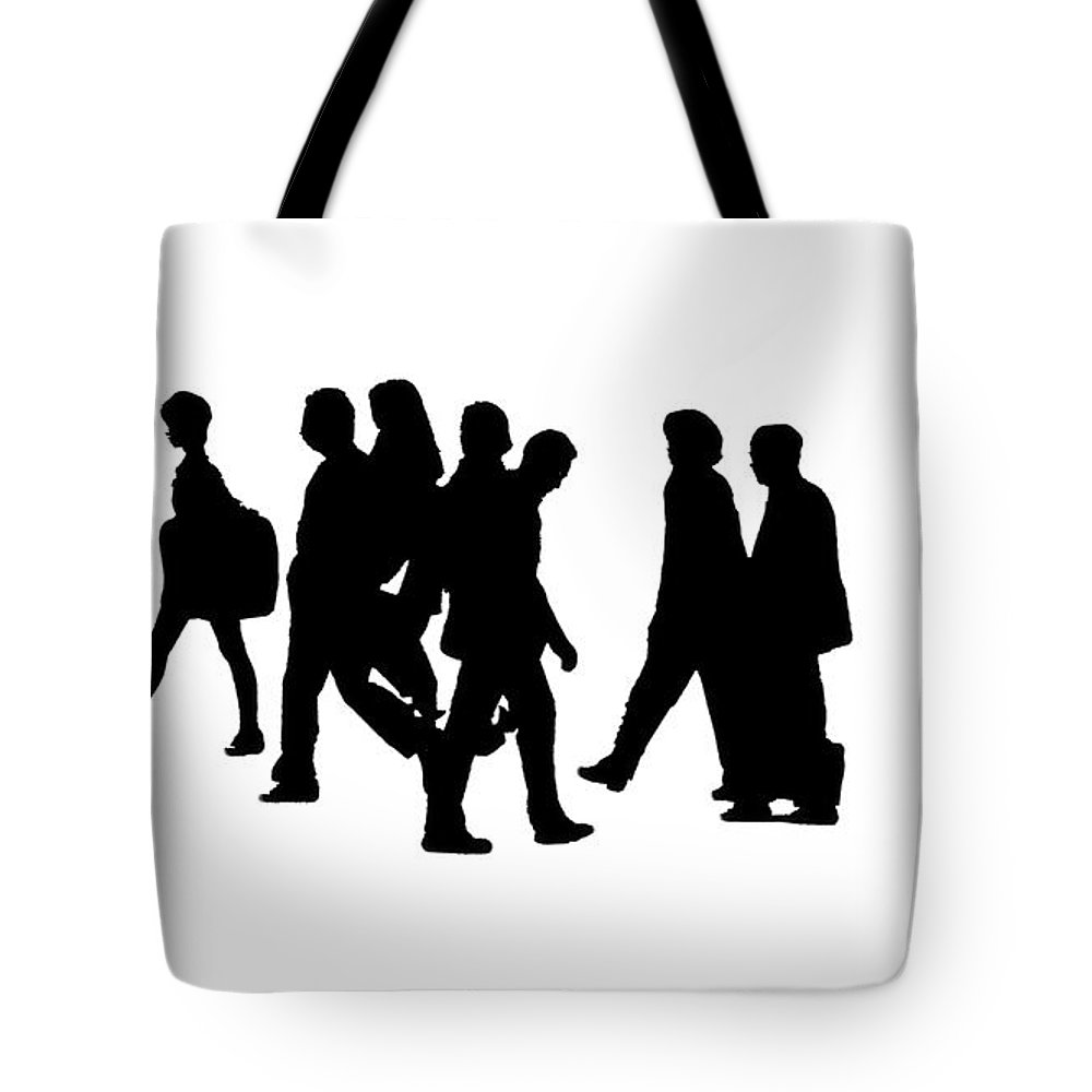 Tote Bag featuring the photograph Shadow People by Gary Warnimont