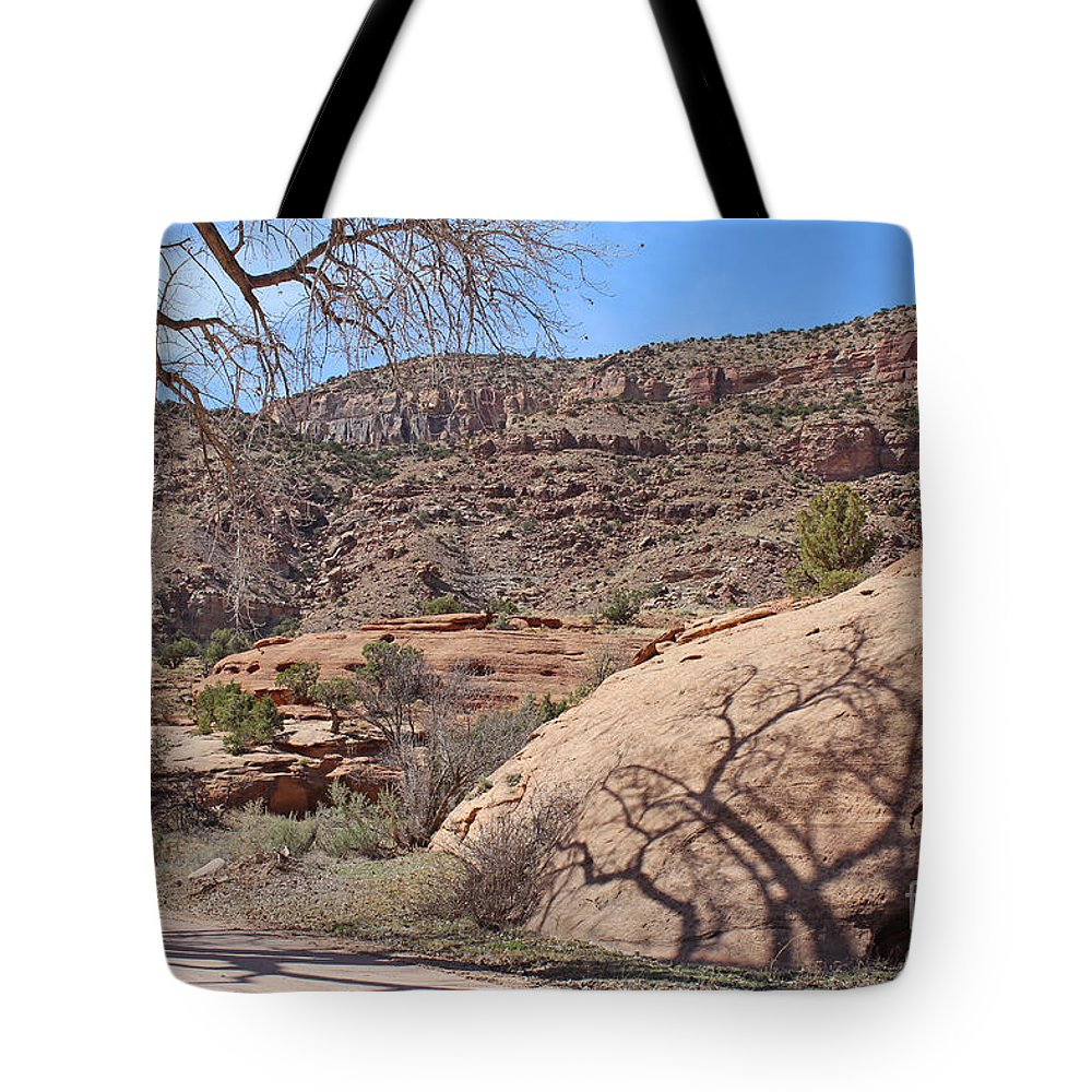 Country Tote Bag featuring the photograph Shadow Tree Dominguez-escalante Canyon Colorado by Dale Jackson