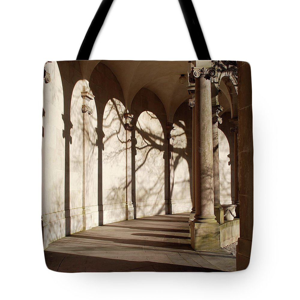 Monmouth University Tote Bag featuring the photograph Shadows And Curves by Richard Bryce and Family