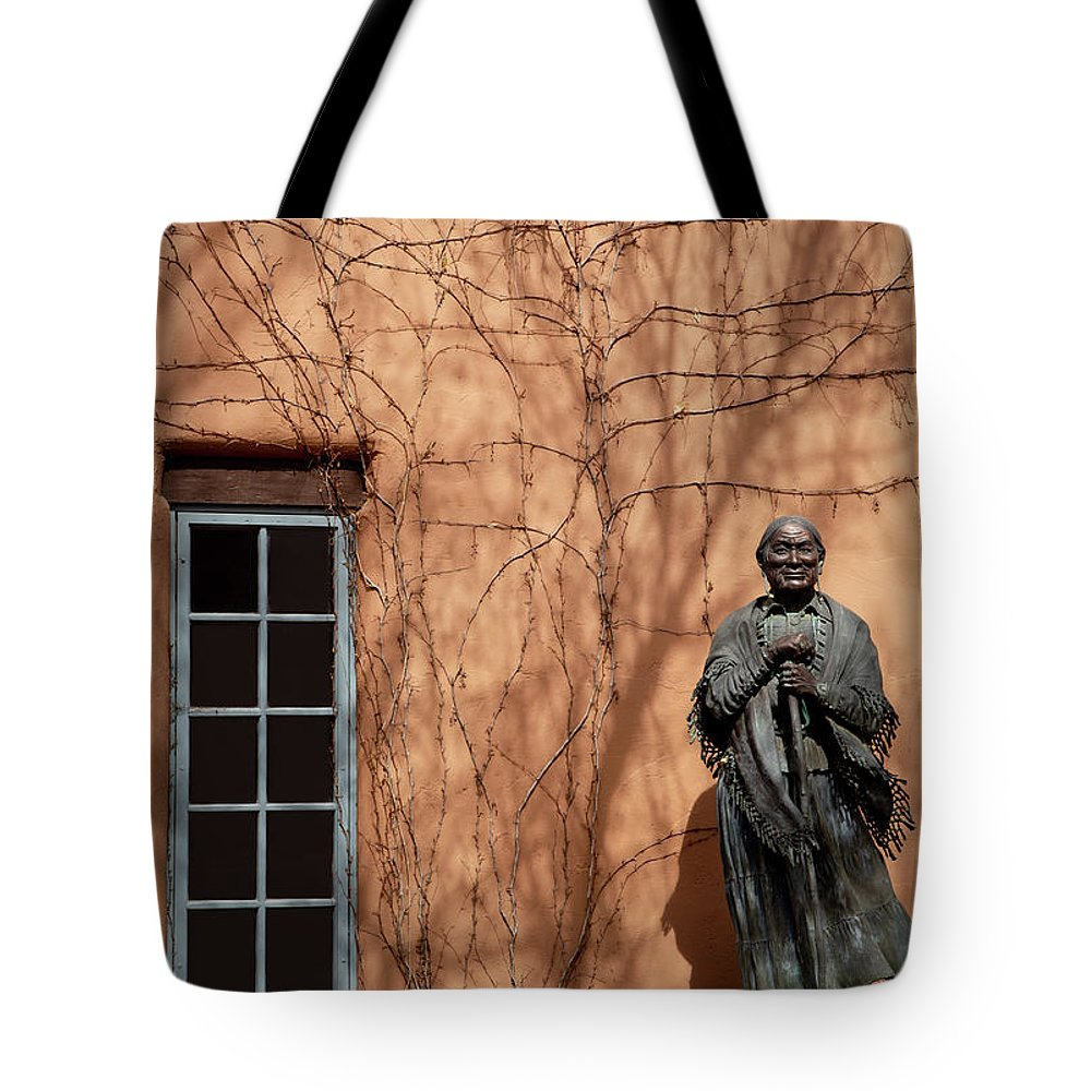Adobe Tote Bag featuring the photograph In The Shadows by Sabrina L Ryan