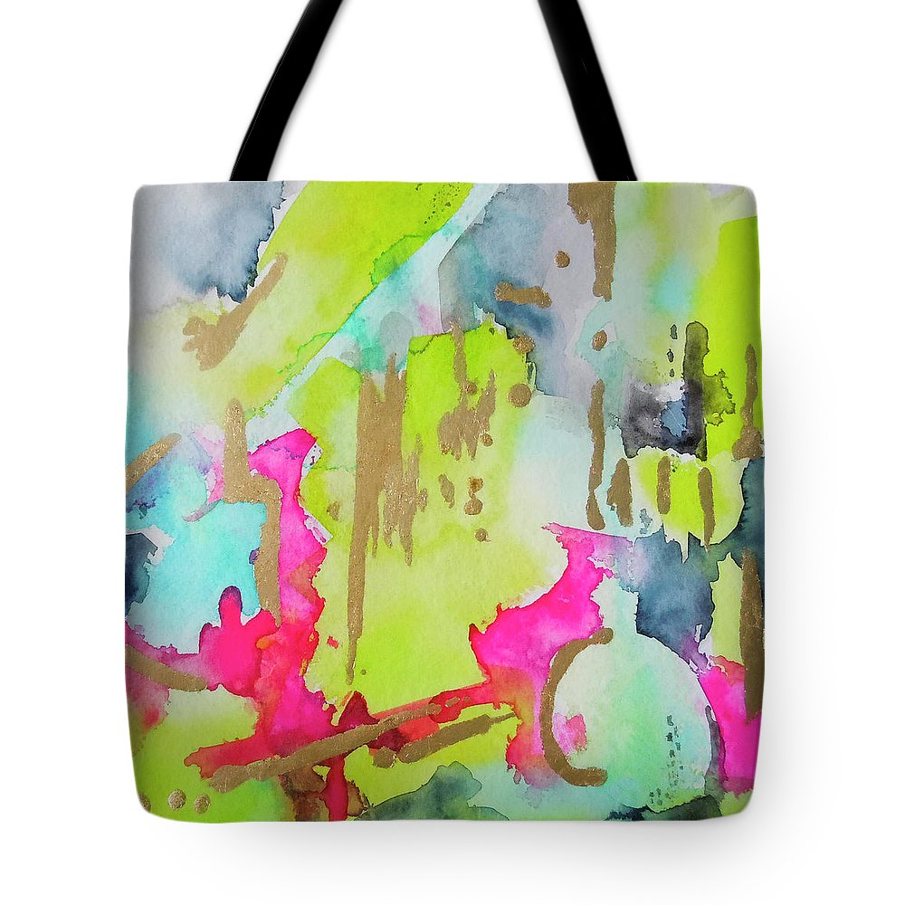 Watercolor Painting Tote Bag featuring the painting Shadow's N Gloss by Roleen Senic