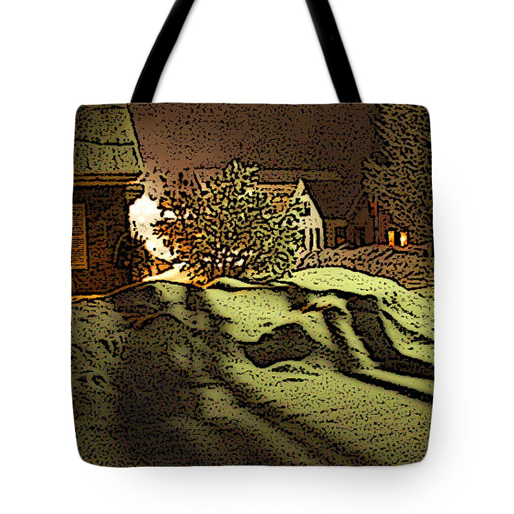 Vermont Tote Bag featuring the photograph Shadows Of Winters Night by Nancy Griswold