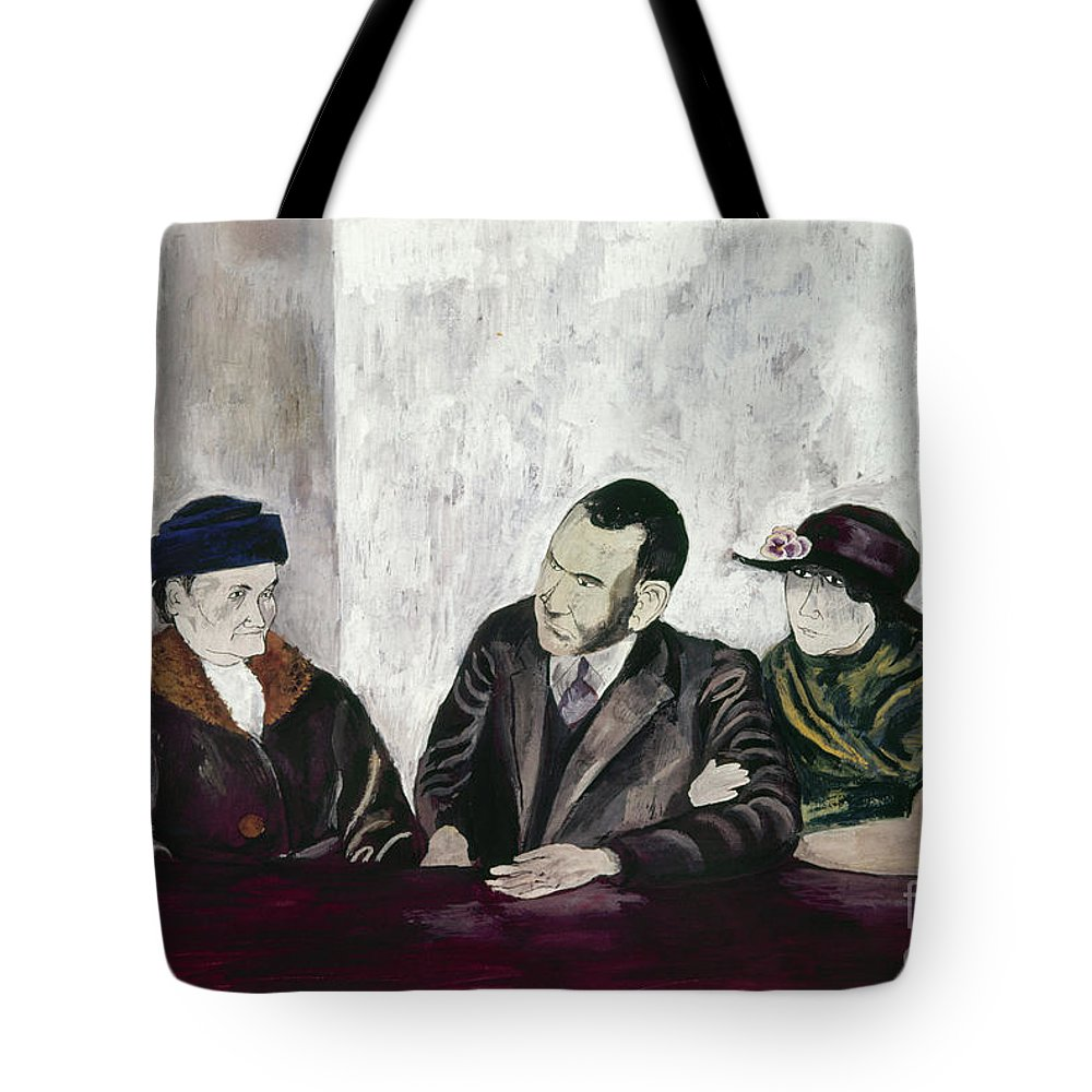 20th Century Tote Bag featuring the photograph Shahn: Man & Women by Granger