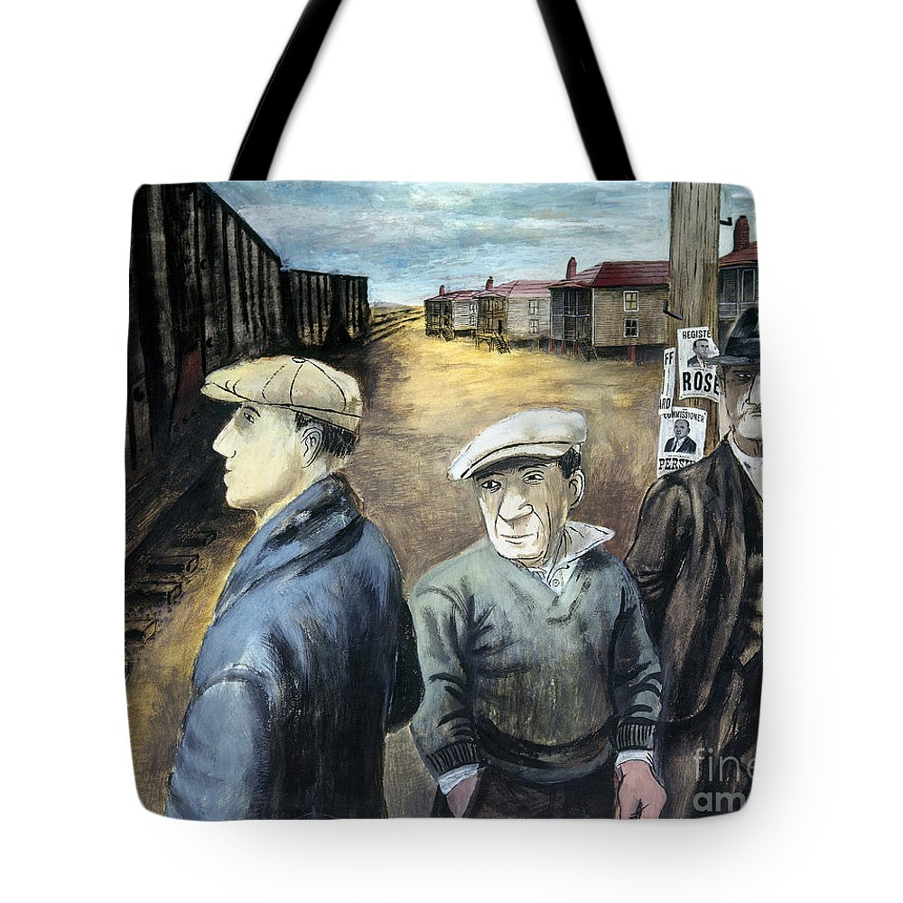 20th Century Tote Bag featuring the photograph Shahn: Three Men by Granger