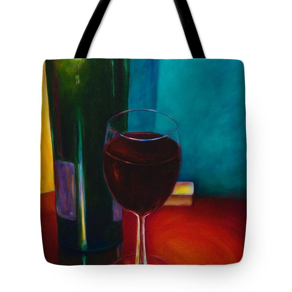 Wine Bottle Tote Bag featuring the painting Shannon's Red by Shannon Grissom