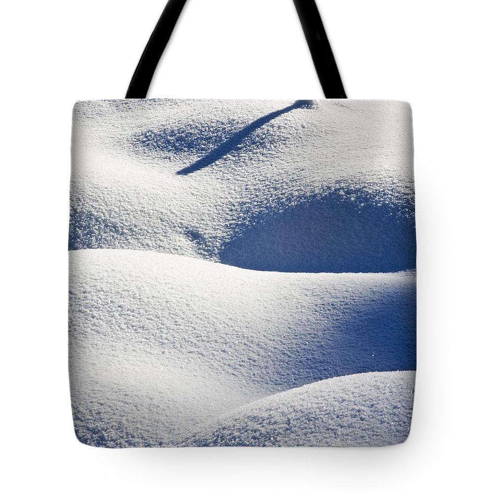 Snow Tote Bag featuring the photograph Shapes Of Winter by Mike Dawson