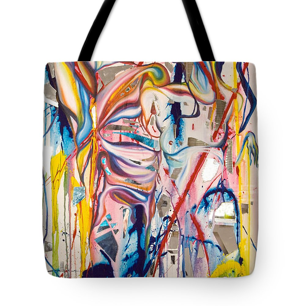 Abstract Tote Bag featuring the painting Shards by Sheridan Furrer