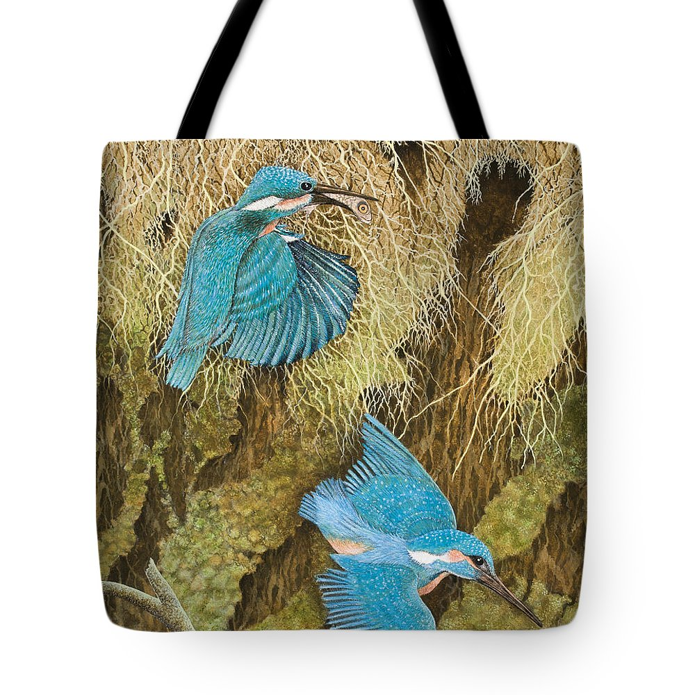 Kingfisher Tote Bags
