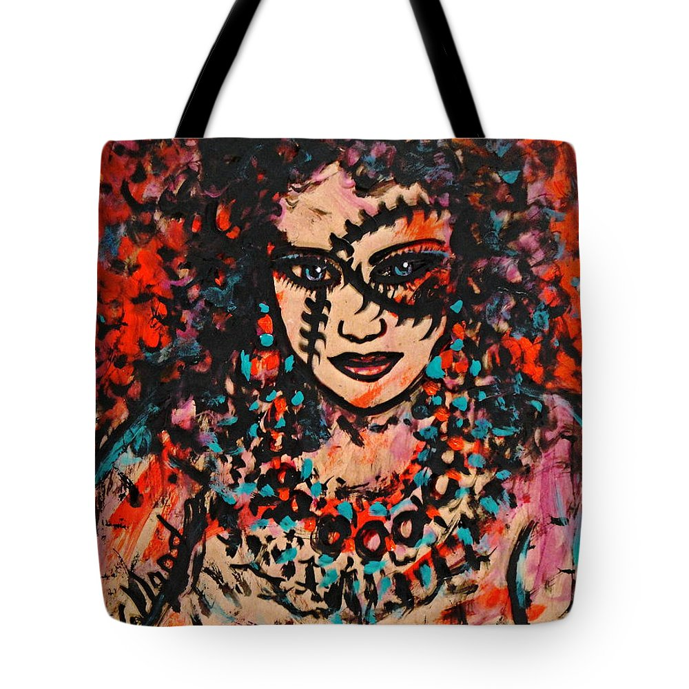 Woman Tote Bag featuring the painting Shayna by Natalie Holland
