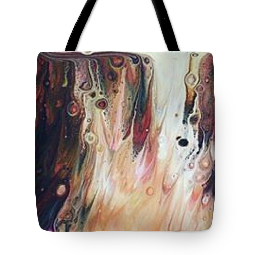 Fluid Art Tote Bag featuring the painting She Had A Soul On Fire, With A Level Head And 20/20 Vision... by Deborah Tacker
