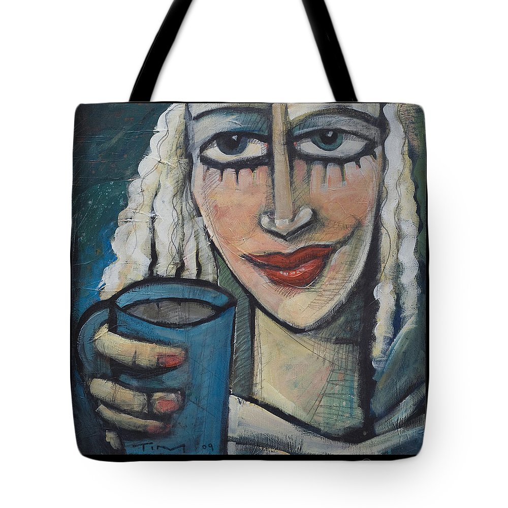 Pleasant Tote Bag featuring the painting She Had Some Dreams... by Tim Nyberg