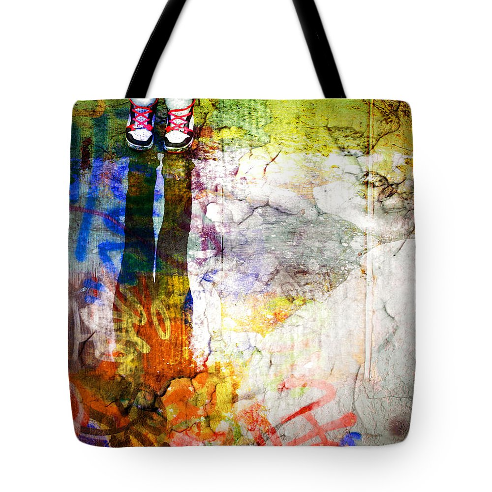 Shoes Tote Bag featuring the photograph She Lives In A Box Of Paint by Tara Turner