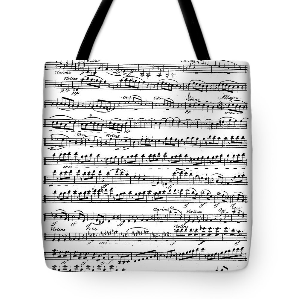 Sheet Music For The Overture To Egmont Tote Bag