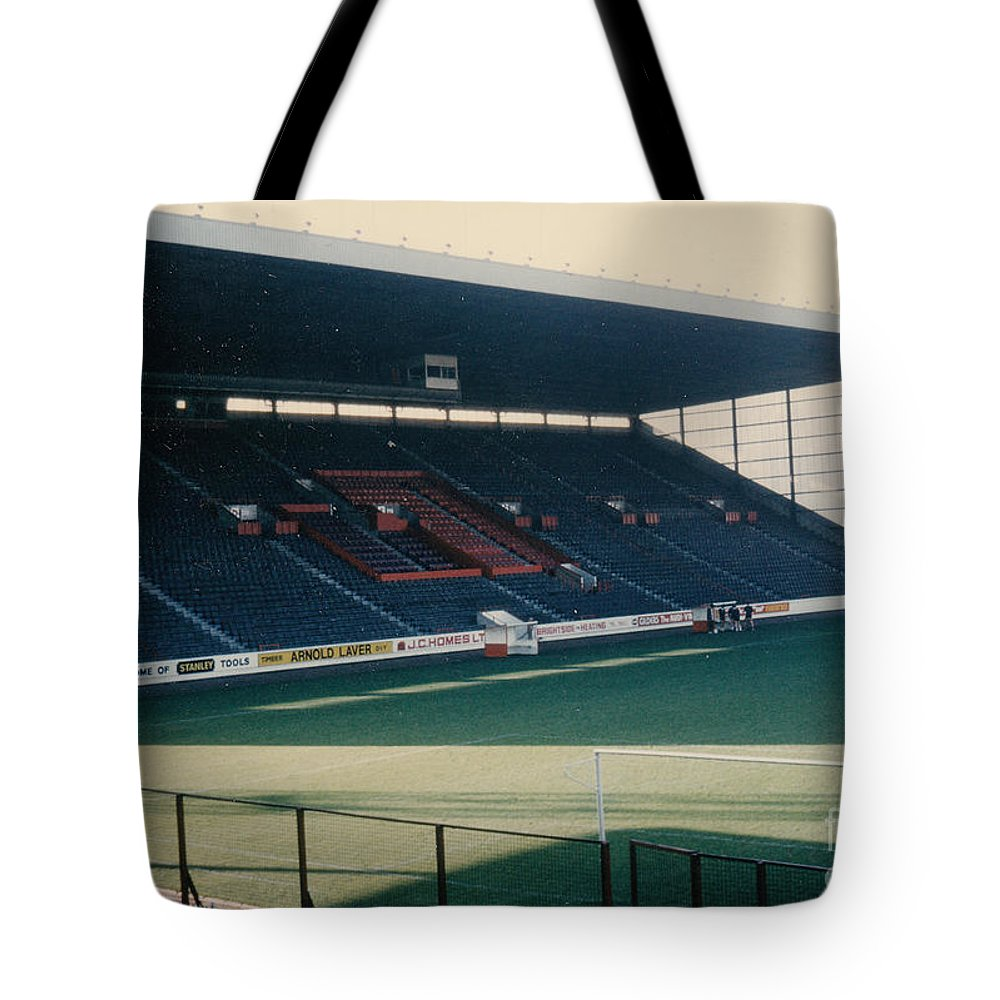 Tote Bag featuring the photograph Sheffield United - Bramall Lane - South Stand 1 - 1970s by Legendary Football Grounds