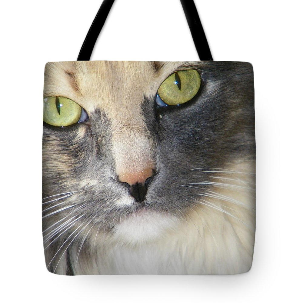 Abstract Tote Bag featuring the photograph Shelby's Eyes 4 by Lenore Senior