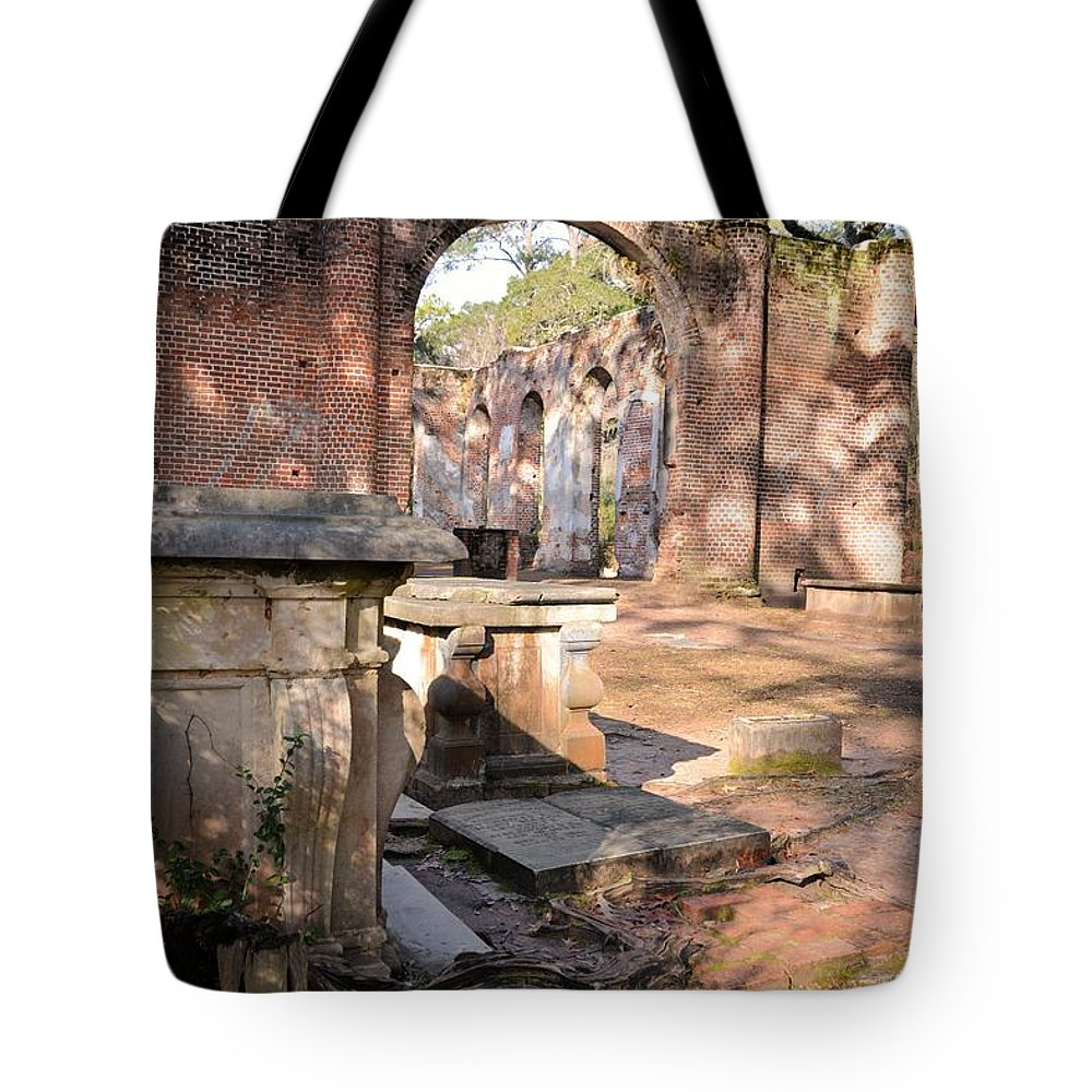 Church Tote Bag featuring the photograph Sheldon Church by Katherine W Morse