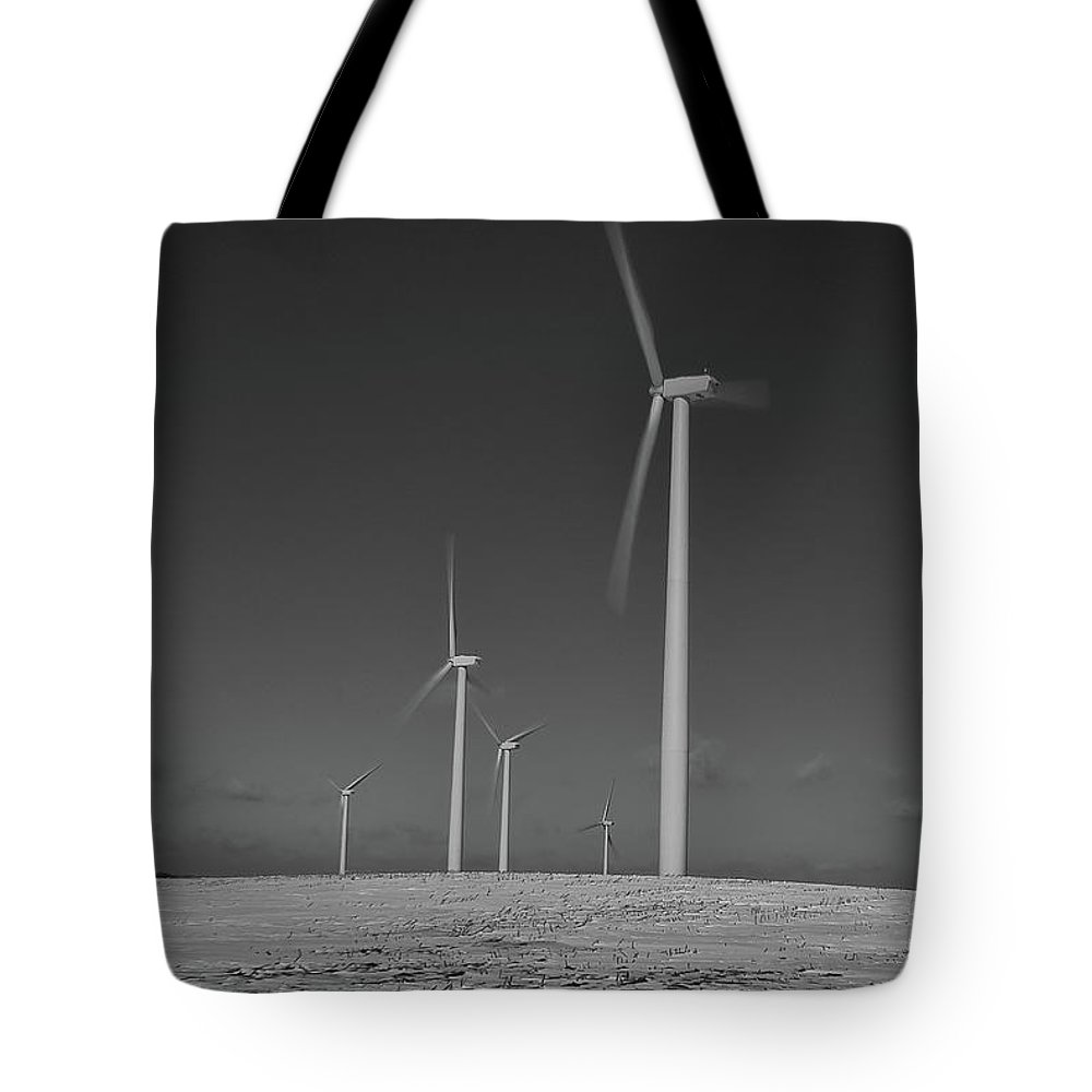 Wind Tote Bag featuring the photograph Sheldon Wind Farm 14955 by Guy Whiteley