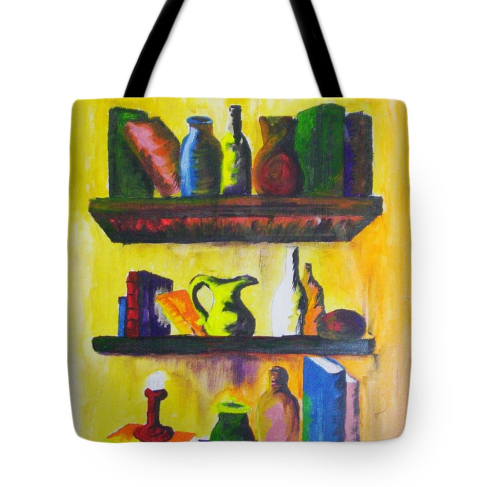 Shelf Tote Bag featuring the painting Shelf by Gr B