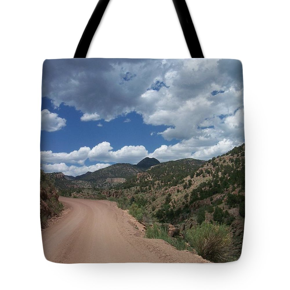Shelf Road Tote Bag featuring the photograph Shelf Road by Anita Burgermeister