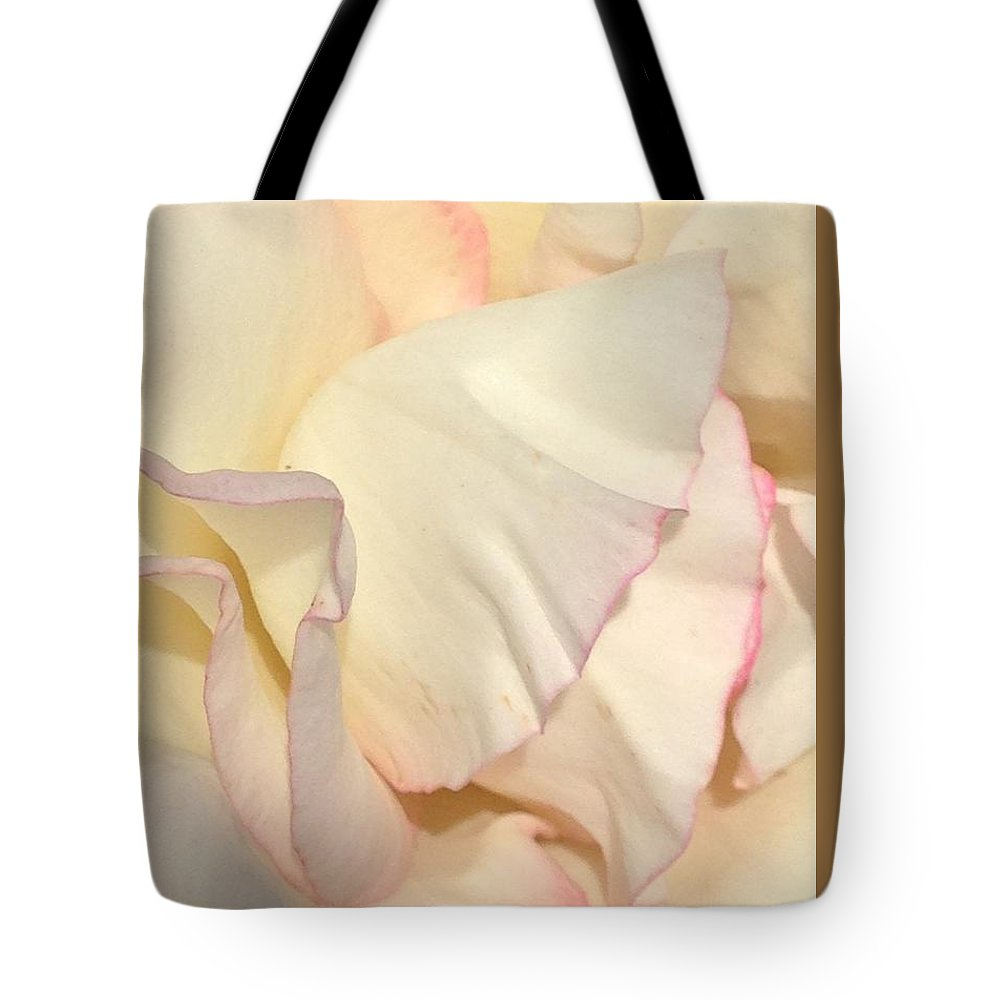 White And Pink Flower Tote Bag featuring the photograph Porcelain by Steve Travis
