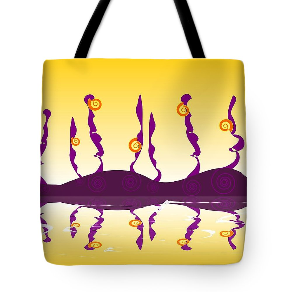 Shell Tote Bag featuring the digital art Shell Life by Anastasiya Malakhova