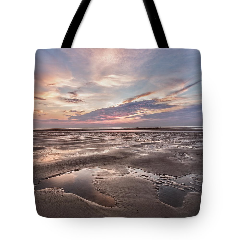 Shell Seeker Tote Bag featuring the photograph Shell Seeker by Christine Martin-Lizzul