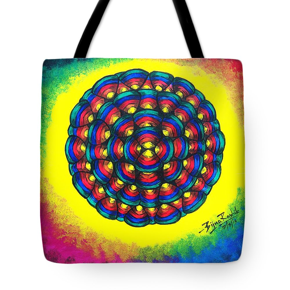 Shell Tote Bag featuring the painting Shells by Bijna Balan