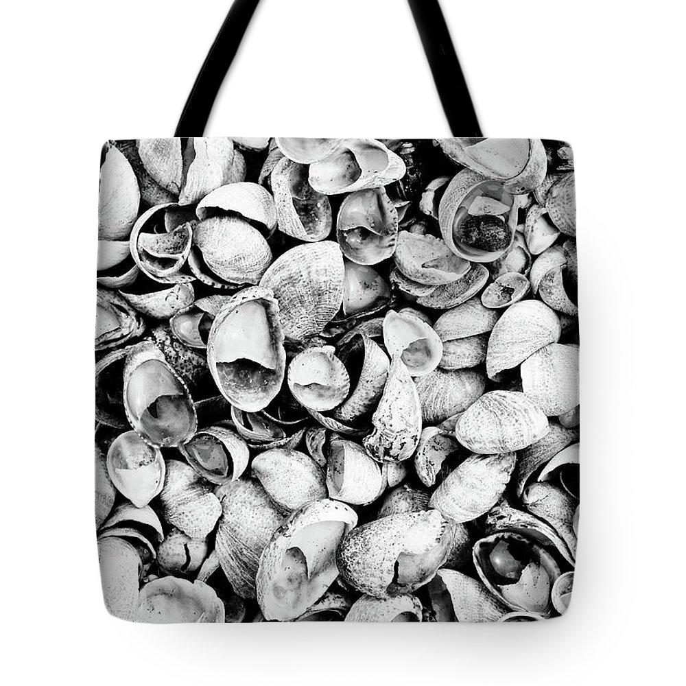 Tote Bag featuring the photograph Shells by Eric Ferrar