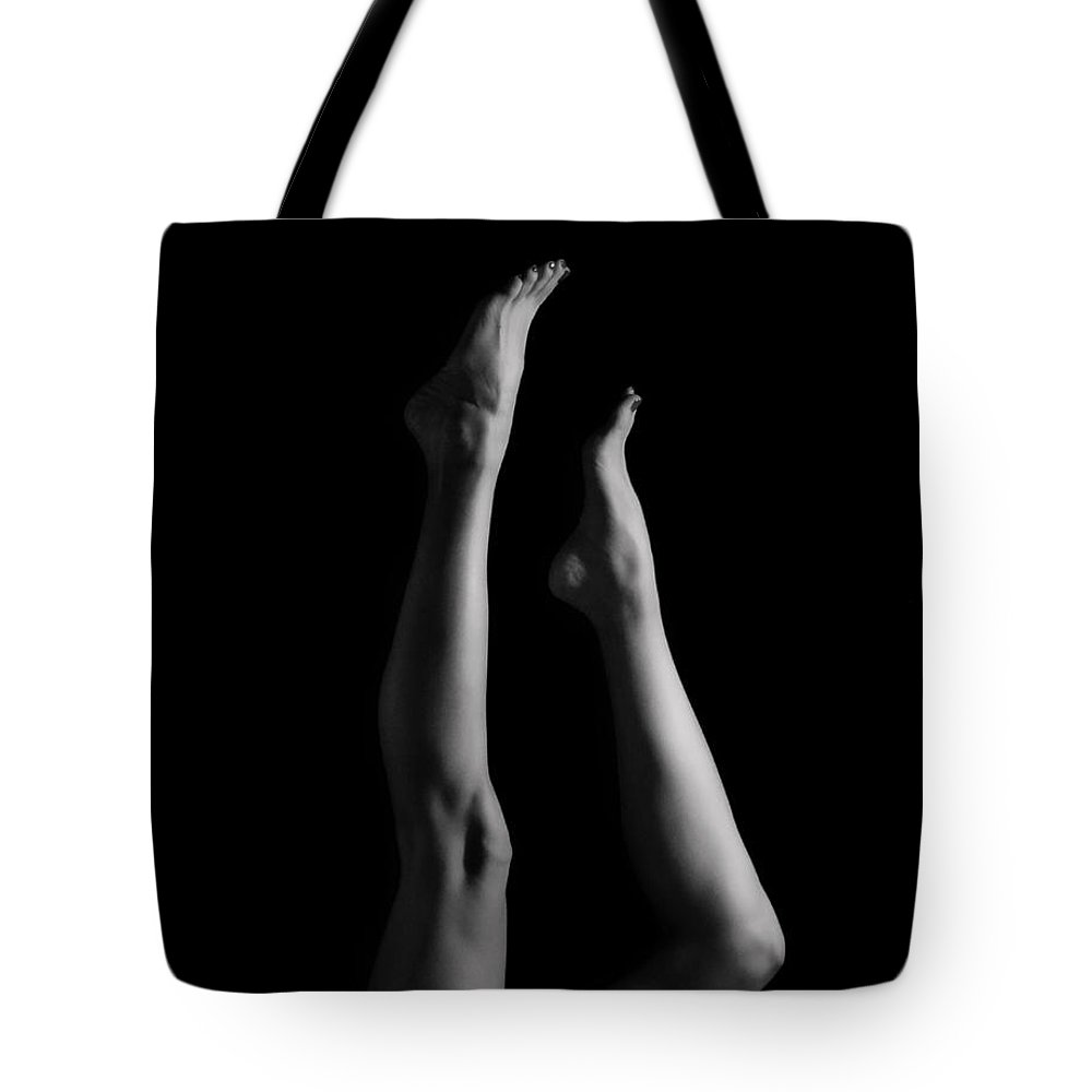 Legs Tote Bag featuring the photograph She's Got Legs by Donna Blackhall