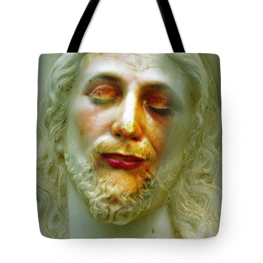 Jesus Tote Bag featuring the photograph Shesus by Skip Hunt