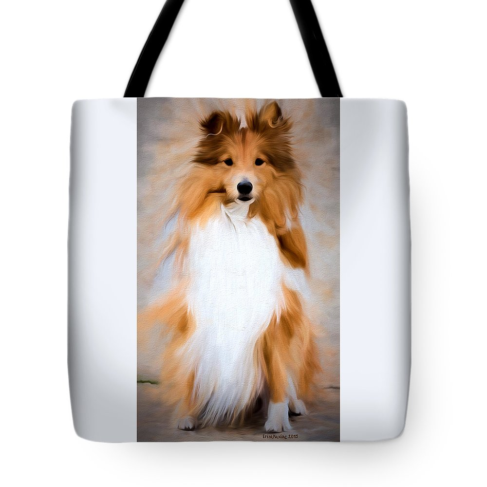 Dog Tote Bag featuring the photograph Shetland Sheepdog - Sheltie by Ericamaxine Price