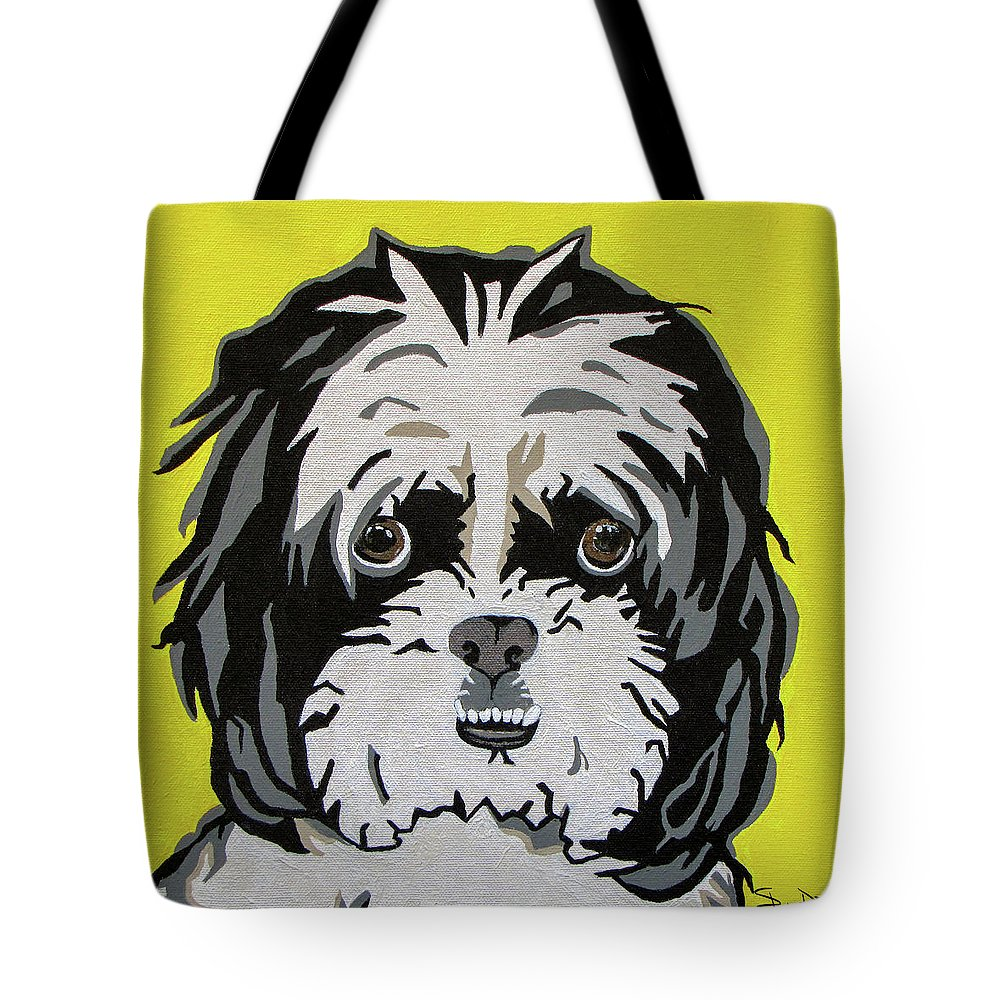 Shih Tzu Tote Bag featuring the painting Shih Tzu by Slade Roberts