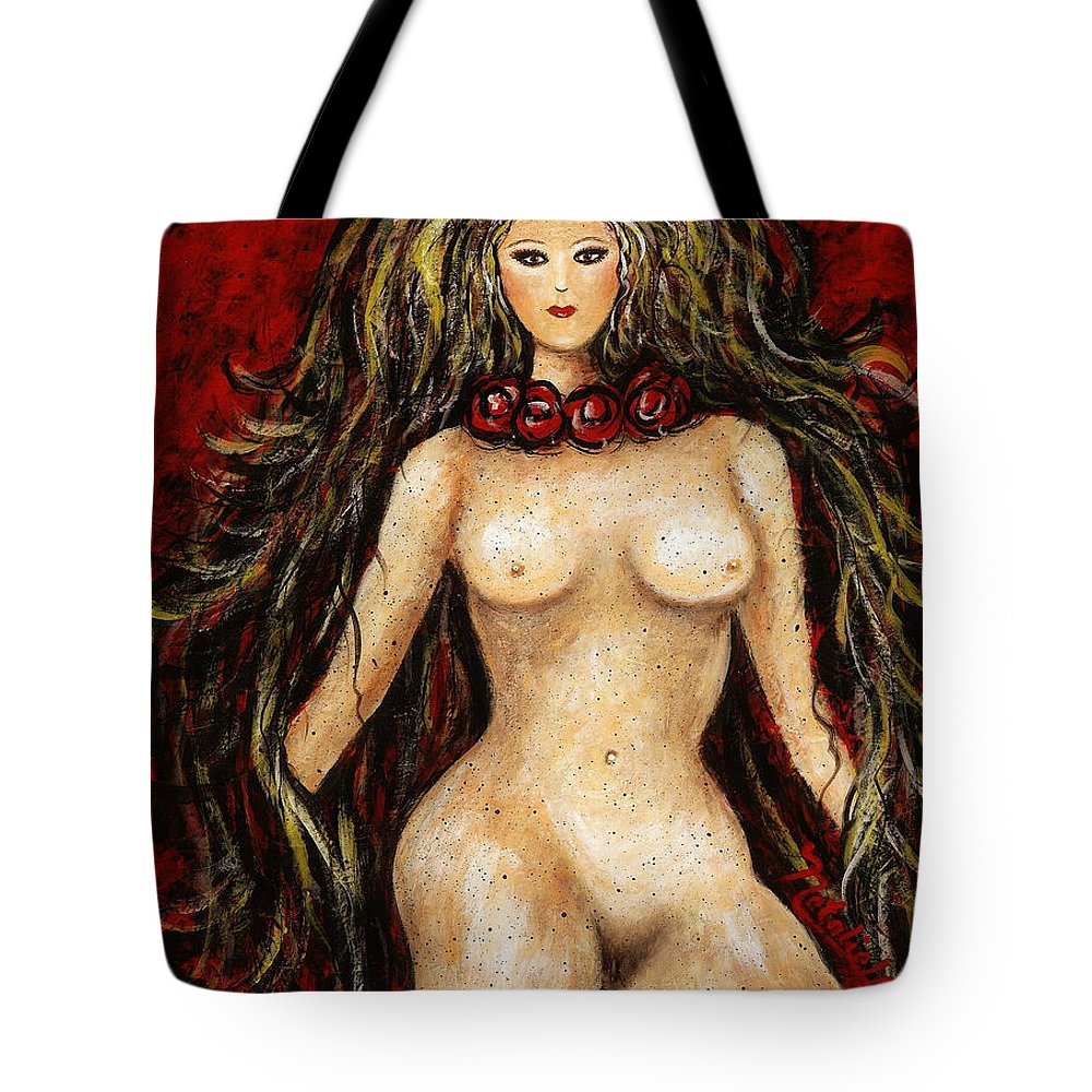 Nude Tote Bag featuring the painting Shimara by Natalie Holland