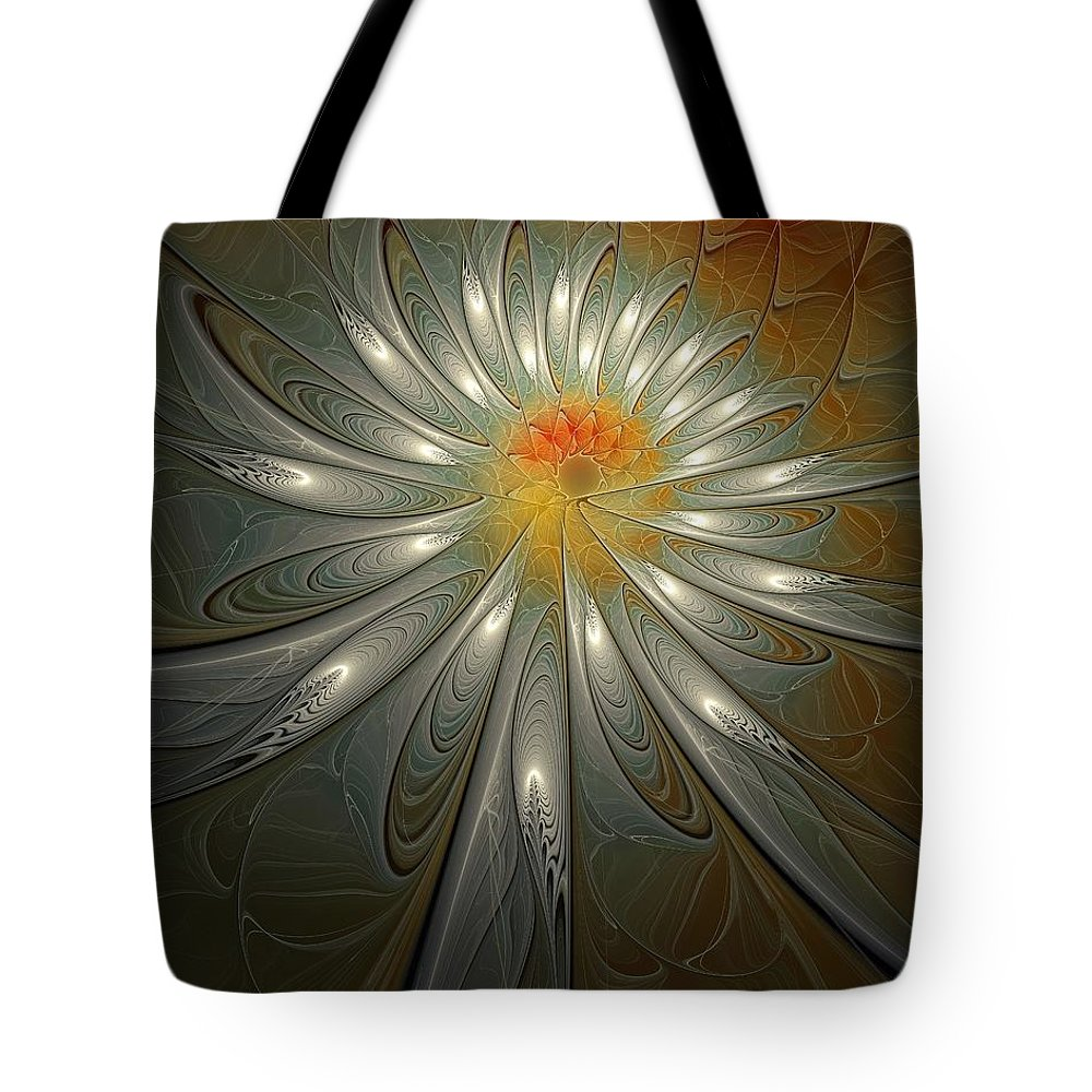 Digital Art Tote Bag featuring the digital art Shimmer by Amanda Moore