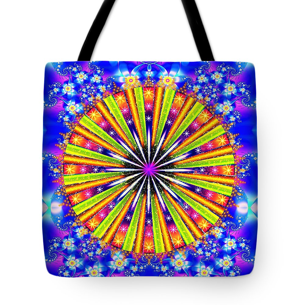 Shine Tote Bag featuring the digital art Shine And Sparkle by The Awakening Art