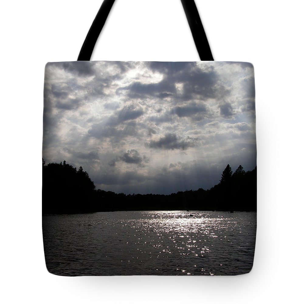 Clouds Tote Bag featuring the photograph Shine On by Angie Rea