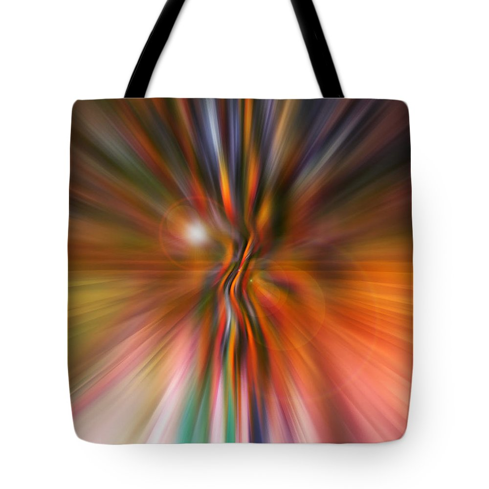 Abstract Art Tote Bag featuring the digital art Shine On by Linda Sannuti