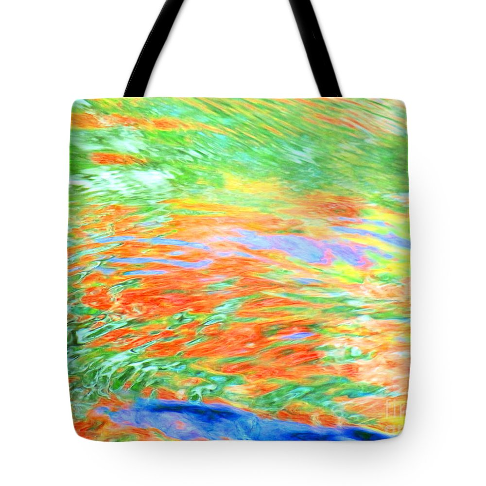 Abstract Tote Bag featuring the photograph Shine Through by Sybil Staples