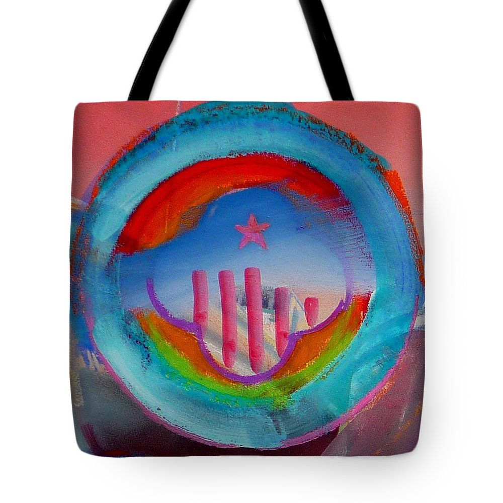 Logo Tote Bag featuring the painting Ship Of State by Charles Stuart
