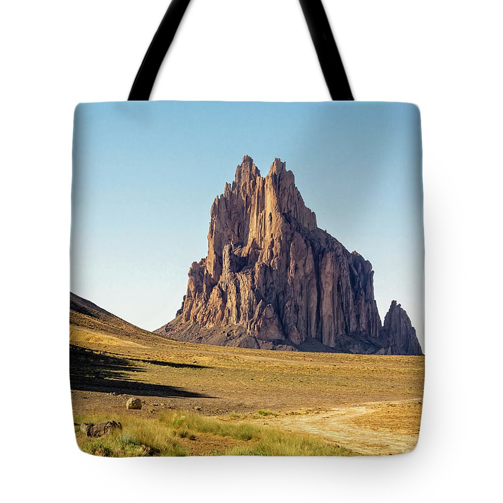 Shiprock Ship Rock North West New Mexico Nm Tote Bag featuring the photograph Shiprock 3 - North West New Mexico by Brian Harig