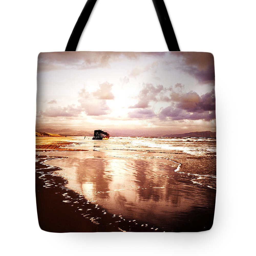 Ocean Tote Bag featuring the photograph Shipwrecked 2 by Tara Turner