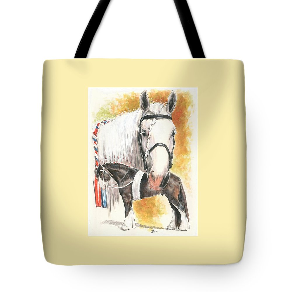 Shire Tote Bag featuring the mixed media Shire by Barbara Keith