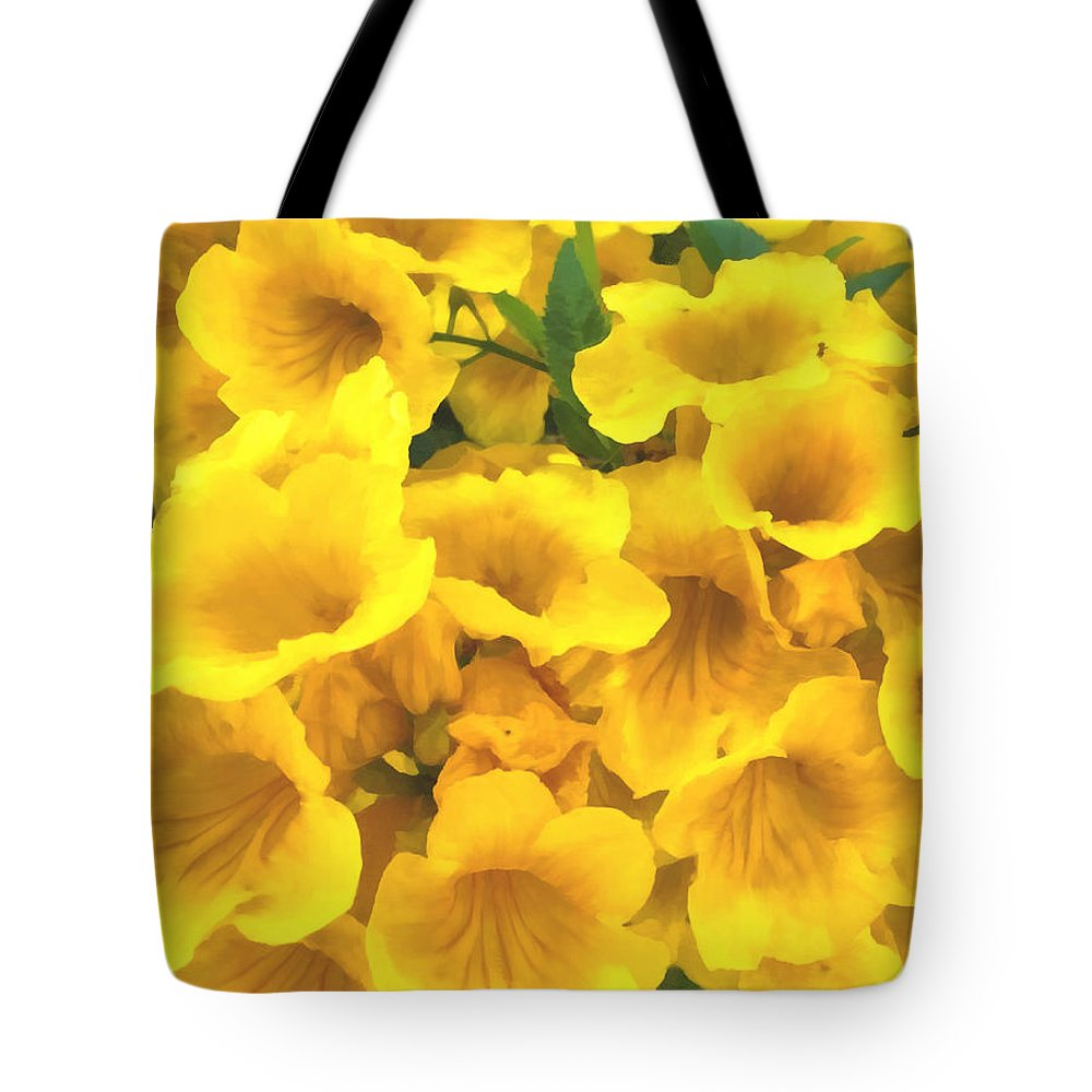 shirley's copa de oro or cup of gold flowers tote bag for sale by
