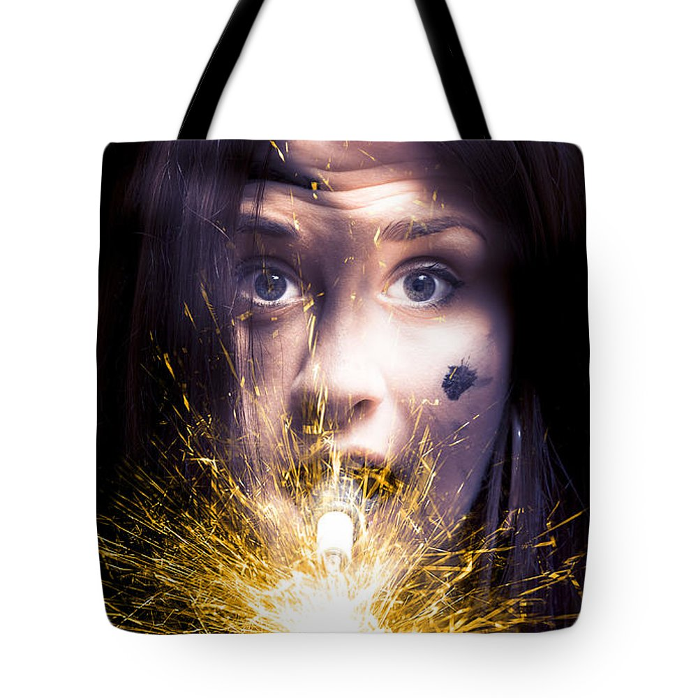 Abstract Tote Bag featuring the photograph Shocked by Jorgo Photography - Wall Art Gallery