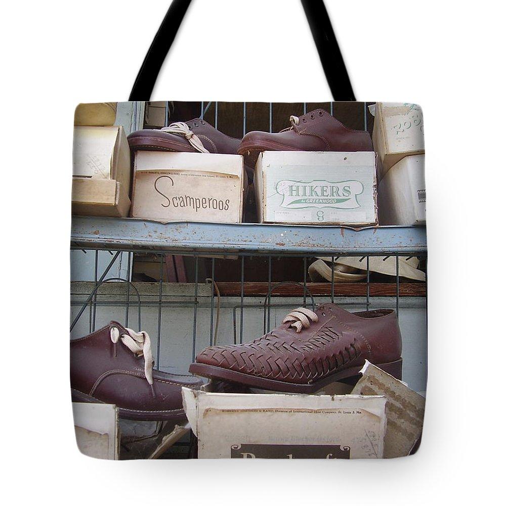 Shoes Tote Bag featuring the photograph Shoes by Flavia Westerwelle