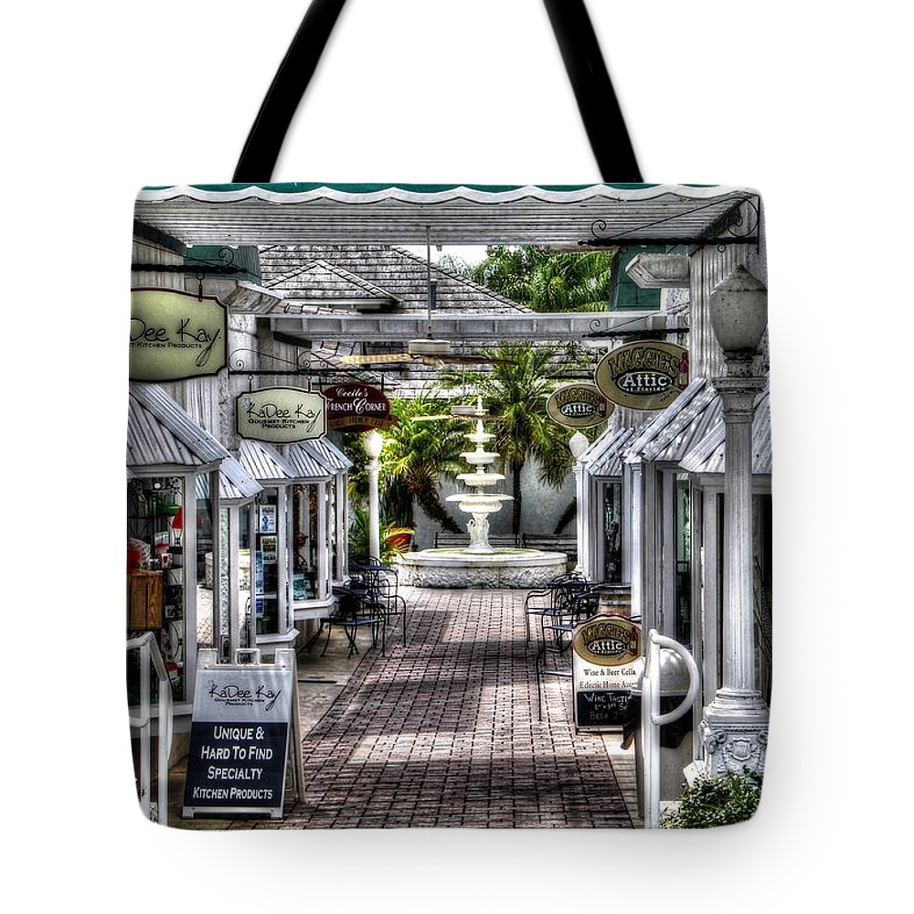 Kadee Kay Tote Bag featuring the photograph Shops Of Mt. Dora by James Markey